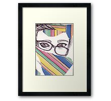 Wonky Glasses  Framed Print