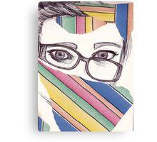 Wonky Glasses  Canvas Print