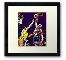 Old School NBA - Charles Framed Print