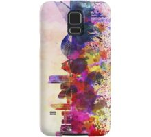 Valencia skyline in watercolor background Samsung Galaxy Case/Skin