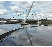 Peace Bridge Reflections............................Derry/Londonderry Photographic Print