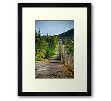 Country Road With Morning Light Framed Print