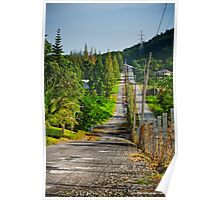 Country Road With Morning Light Poster