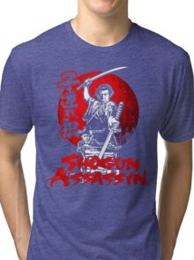 LONEWOLF AND CUB AKA SHOGUN ASSASSIN SHINTARO KATSU JAPANESE RETRO SAMURAI MOVIE  Tri-blend T-Shirt