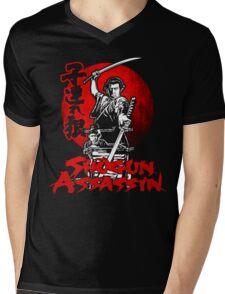 LONEWOLF AND CUB AKA SHOGUN ASSASSIN SHINTARO KATSU JAPANESE RETRO SAMURAI MOVIE  Mens V-Neck T-Shirt