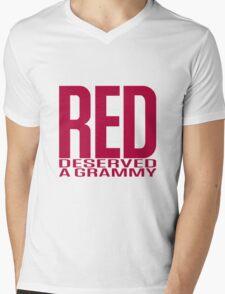 Red Deserved a Grammy Mens V-Neck T-Shirt