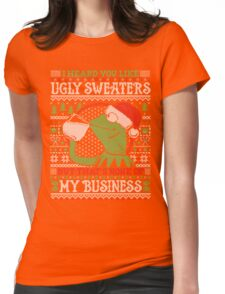 I Heard You Like Ugly Sweaters Womens Fitted T-Shirt
