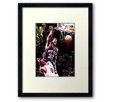 Old School NBA - Ewing Framed Print