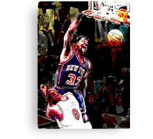 Old School NBA - Ewing Canvas Print