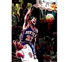 Old School NBA - Ewing Photographic Print