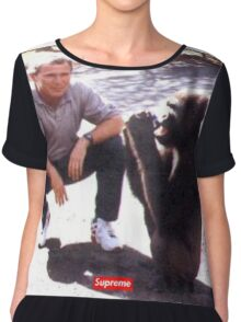 George Bush and Monkey SUPREME shirt Chiffon Top