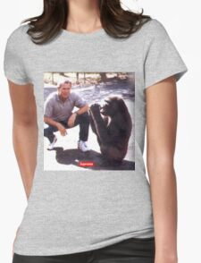 George Bush and Monkey SUPREME shirt Womens Fitted T-Shirt