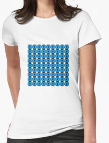 Hibiscus Blue (VNS.29) Womens Fitted T-Shirt
