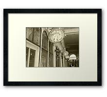 Paris arcade Framed Print