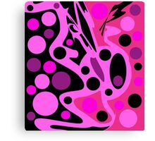 Pink abstract decor Canvas Print