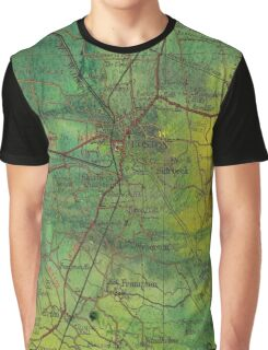 Boston- Ariel ink painting with Boston map Graphic T-Shirt
