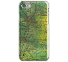Boston- Ariel ink painting with Boston map iPhone Case/Skin