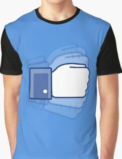 Rock, paper, scissors, GO! (Blue) Graphic T-Shirt