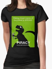 Piracy is Killing Evolution Womens Fitted T-Shirt