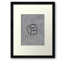 Escape Key (stencil graffiti) Framed Print