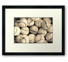 Vintage Baseball designs Framed Print