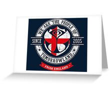 People of Tomorrowland country Flags logo Badge -  England - English - Anglais Greeting Card
