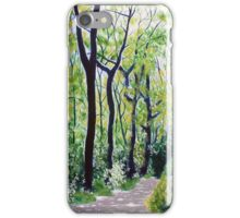 'Tall Trees Along the Moses Cone Trail' iPhone Case/Skin