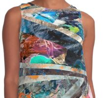 Triangle Forest Abstract Rainbow Futuristic Contrast Tank
