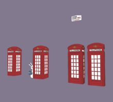 Easter bunny and telephone boxes Kids Tee