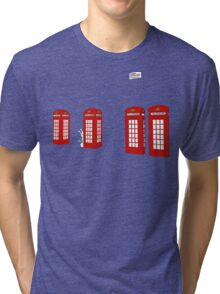 Easter bunny and telephone boxes Tri-blend T-Shirt