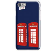 Easter bunny and telephone boxes iPhone Case/Skin