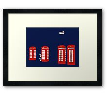 Easter bunny and telephone boxes Framed Print
