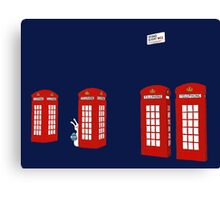 Easter bunny and telephone boxes Canvas Print