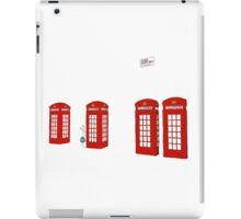 Easter bunny and telephone boxes iPad Case/Skin