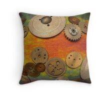 Gear Abstract One Throw Pillow
