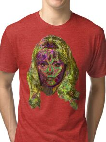 Capable Friend Of The Fifties Film Scream Queen Version Five Tri-blend T-Shirt