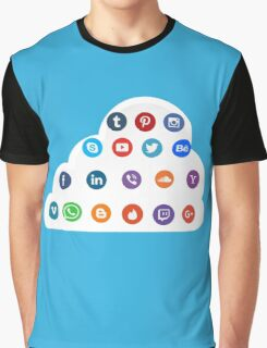 Social Media Cloud Icons Graphic T-Shirt