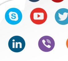 Social Media Cloud Icons Sticker