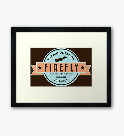 Firefly Transportation Framed Print