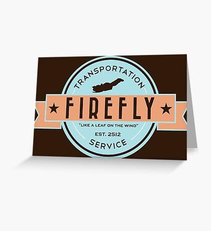 Firefly Transportation Greeting Card