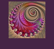 Pink Spiral - Fractal Art - Square  Unisex T-Shirt