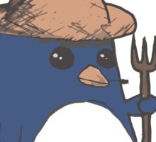 Farmer Penguin- Contrast Sticker