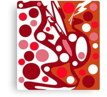 Red and white abstract decor Canvas Print