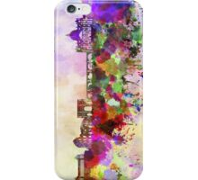 Rome skyline in watercolor background iPhone Case/Skin