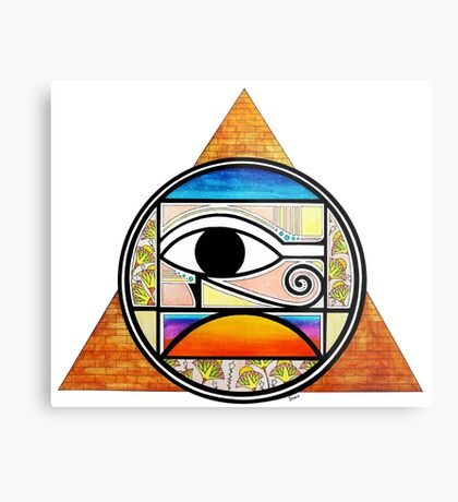 Symbol of Egypt (Colored) Metal Print