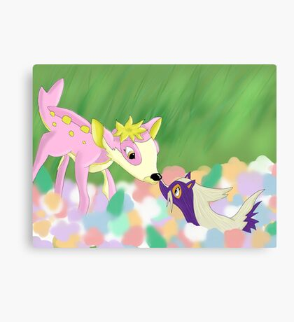 Bambi Pokemon Crossover Canvas Print