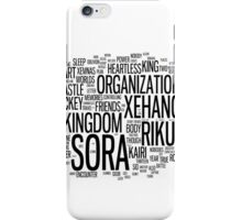 Kingdom Hearts Word Cloud iPhone Case/Skin