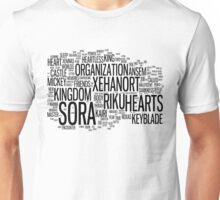Kingdom Hearts Word Cloud Unisex T-Shirt