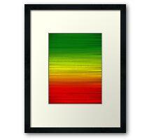 Green Gold Red Framed Print