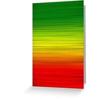 Green Gold Red Greeting Card